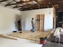 Building a bedroom set on Buck Studio's cyc wall